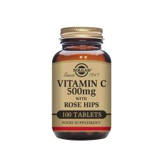 Solgar Vitamin C 500 mg with Rose Hips 100 Tablets